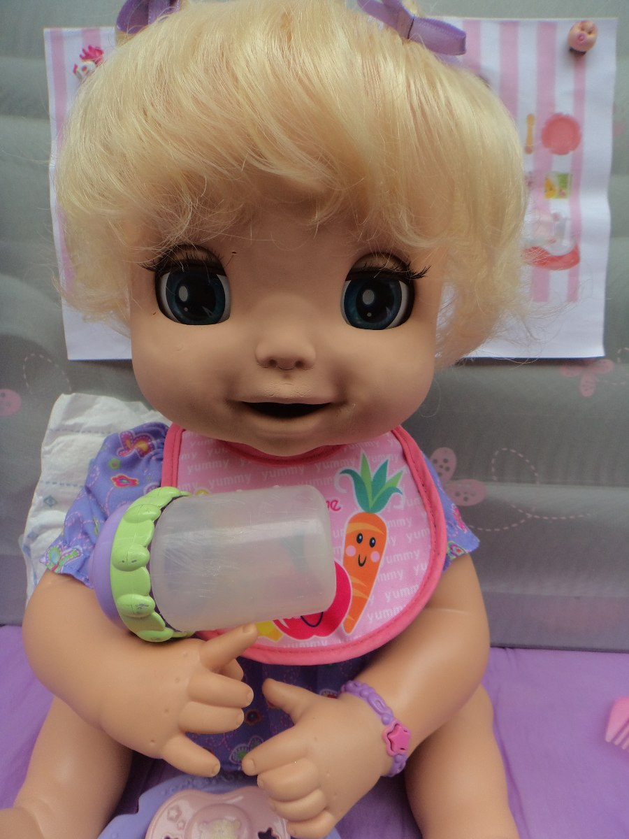 75bfeb44d1 Carregando zoom... boneca baby alive linda surpresa interativa q fala hasbro