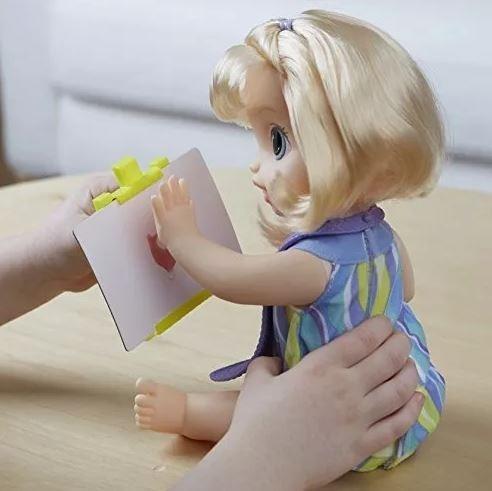 baby alive c0960la muñeca  artista baby deditos pintados