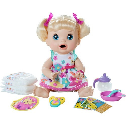 Baby Alive Comer E Brincar Loira Fala Ingles Hasbro R