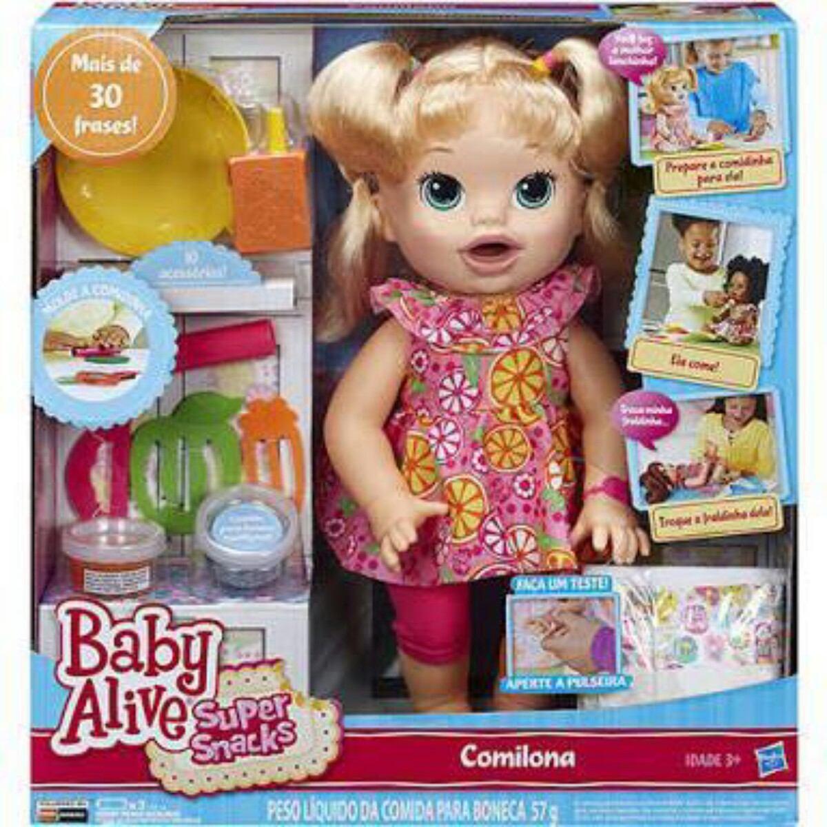 Baby Alive Comilona Fala Portugu 234 S R 900 00 Em Mercado
