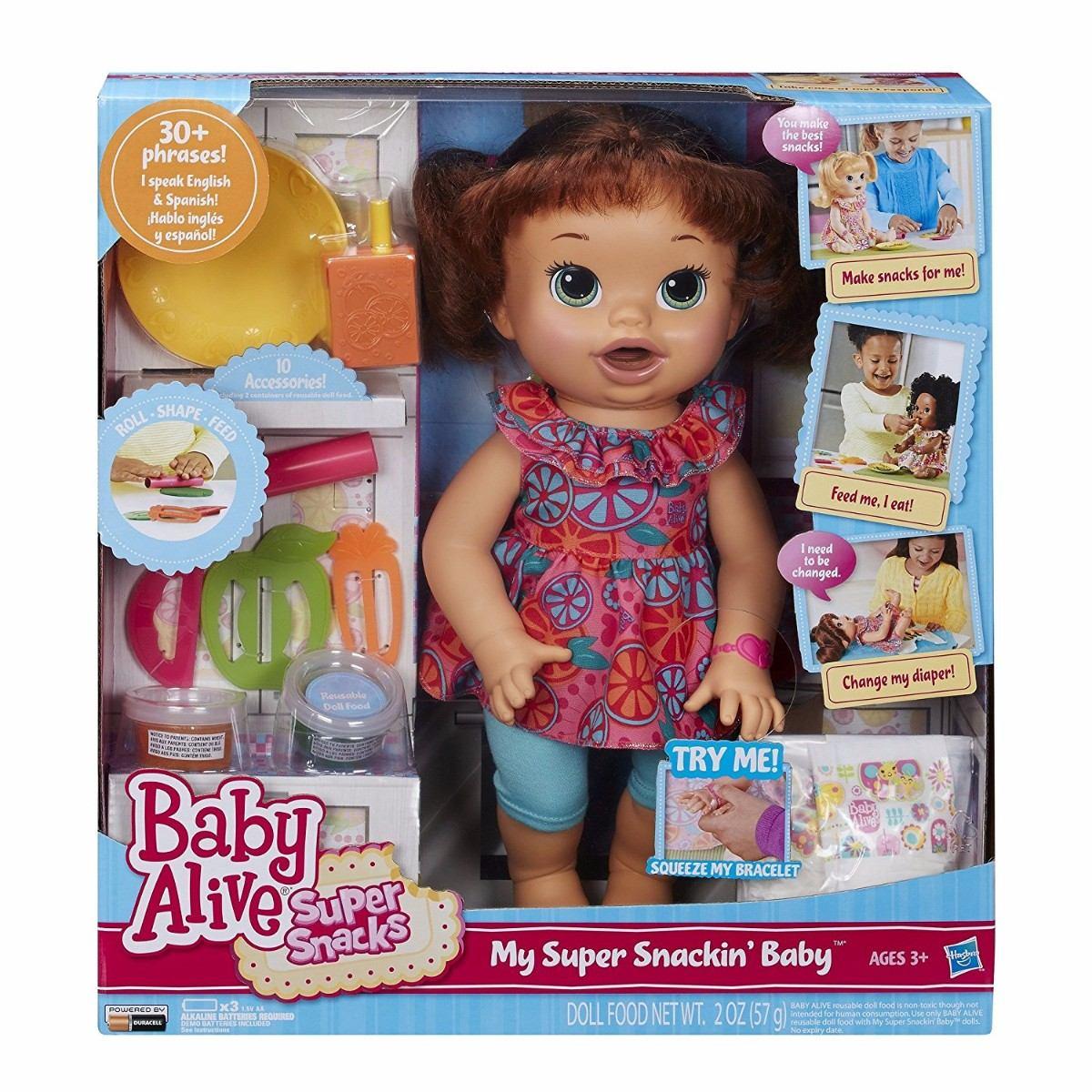 061bf82ad2 baby alive comilona - morena fala ingles e espanhol. Carregando zoom.