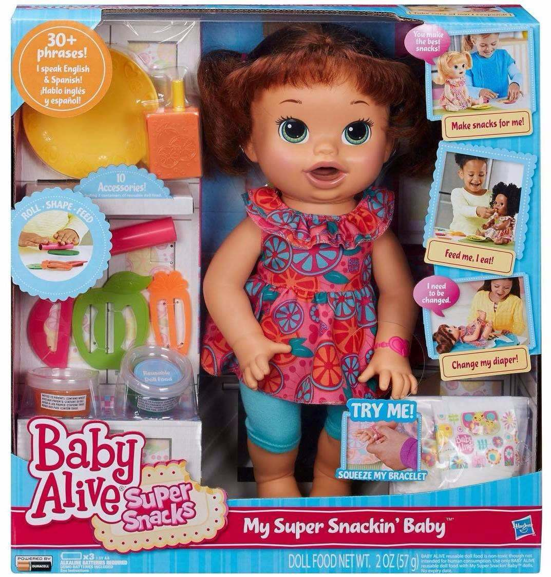 Baby Alive Comilona Morena Mexe A Boca Fala Ingles