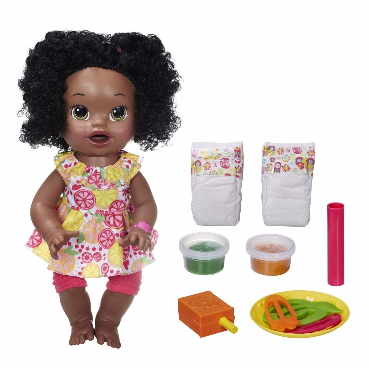Baby Alive Comilona Negra Fala Ingles E Espanhol R