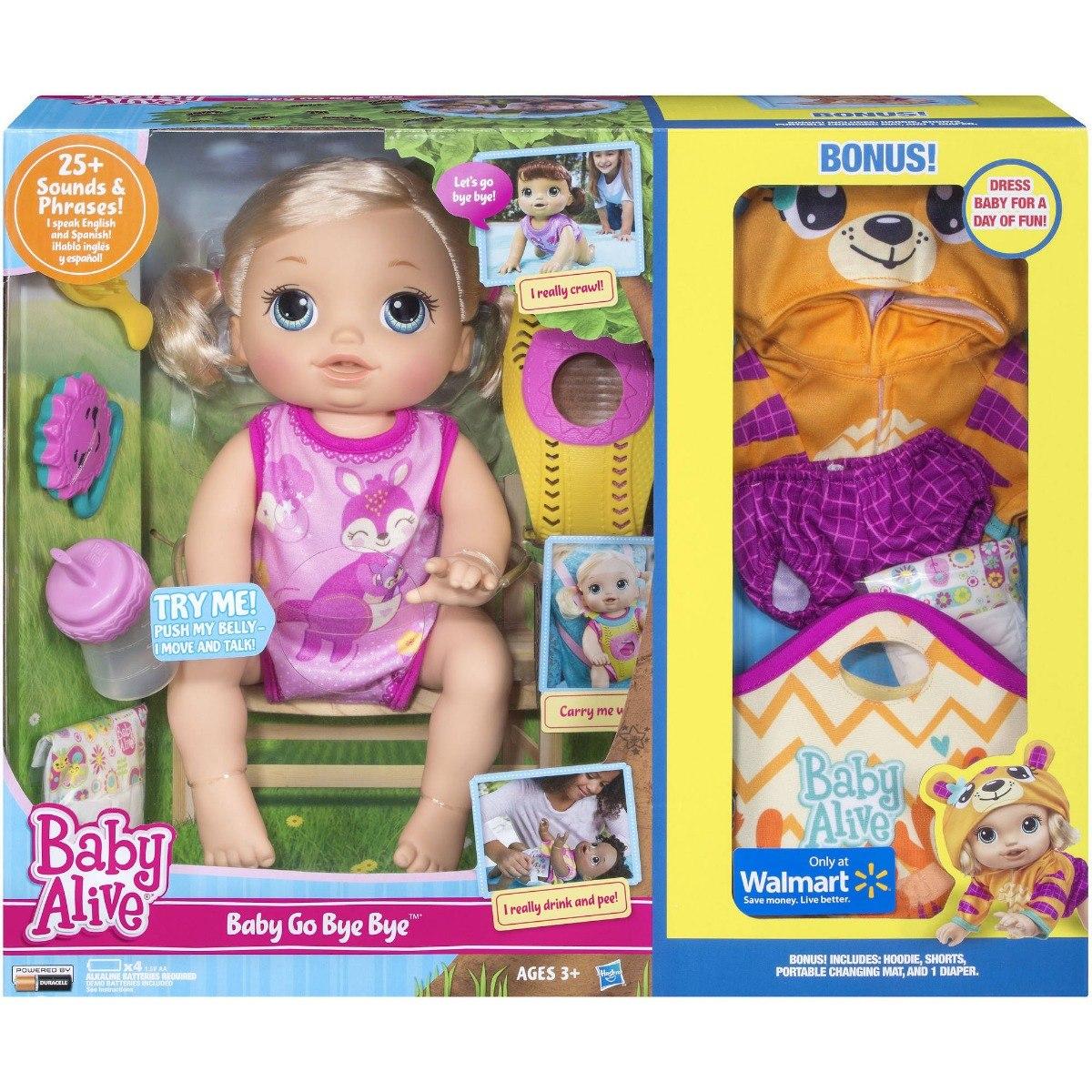 aea73a7b056 Baby Alive Hora Do Passeio Loira- Inglês E Espanhol Original - R$ 599,99 em  Mercado Livre