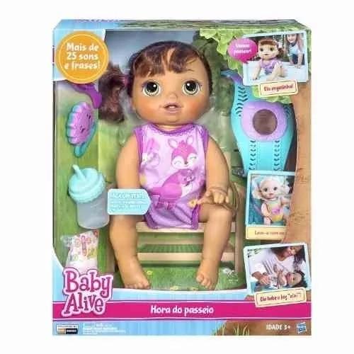 a88a782237 Baby Alive Hora Do Passeio Morena C2689 Hasbro - R  498