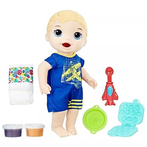 baby alive - meu primeiro filho loiro lanchinhos divertido #