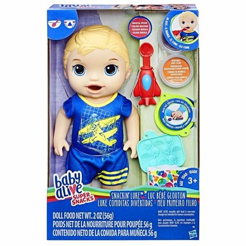 baby alive meu primeiro filho loiro lanchinhos divertido