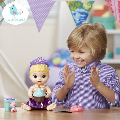 baby alive muñeca mi bebe cumpleañera con accesorios e0596