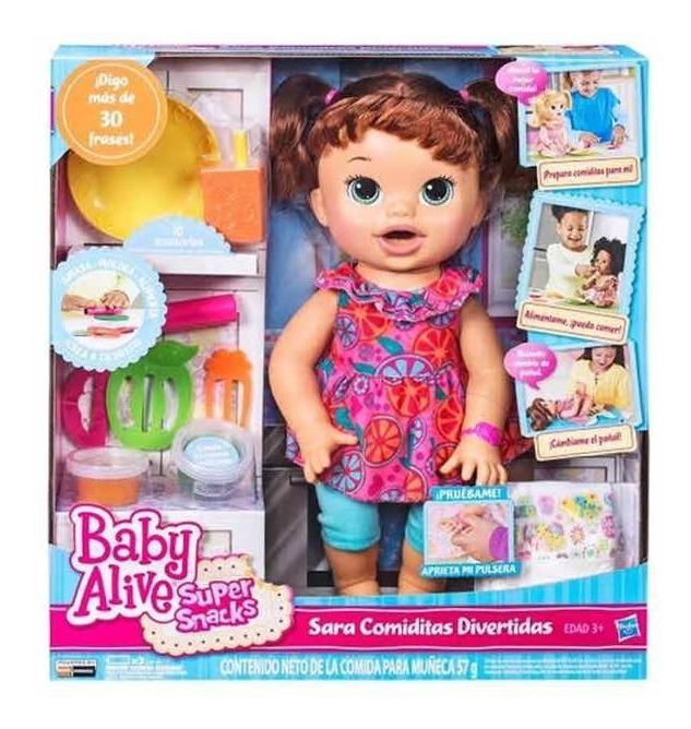 Baby Alive Sara Comiditas Divertidas Casta 241 A 1 299 00