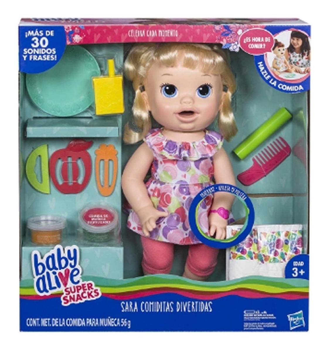 Baby Alive Sara Comiditas Divertidas Super Snacks Ofeta