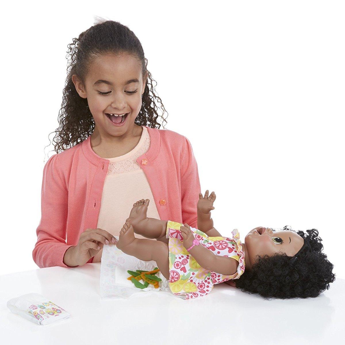 Baby Alive Super Snacks Sara Comilona Negra R 648 89
