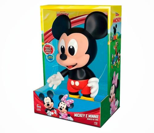 baby boneco mickey mouse 25 cm vinil  lider