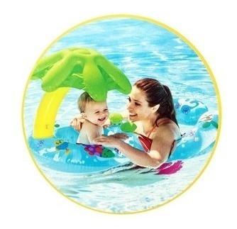 baby bote boia peixinhos mamãe bebê inflável intex 56590