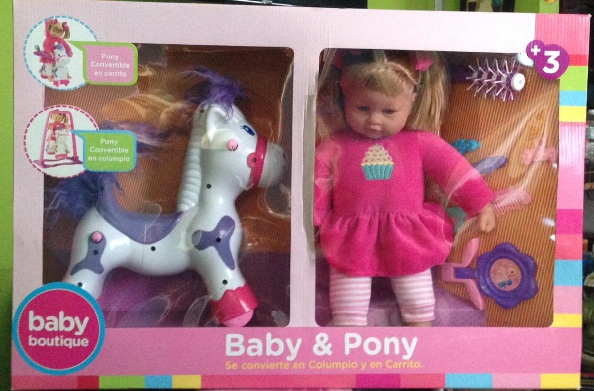 Baby Boutique 2 En 1 Bebe Y Pony Con Accesorios 100% Nueva ... 3bbf8746324