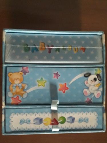baby box - gaveteiro album fotos - caixa 3 andares porta obj