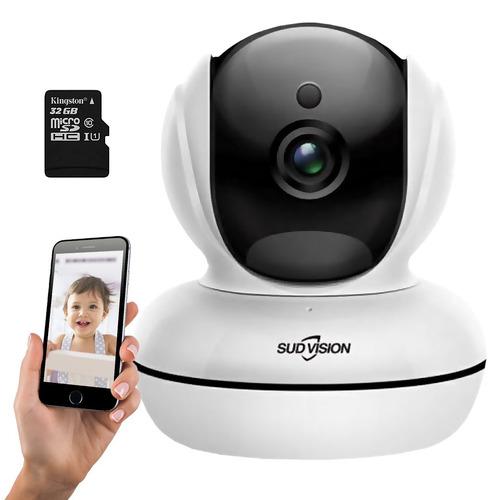 baby call camara de seguridad monitor bebe wifi infrarrojo audio notificacion por movimiento + memoria 32gb micro sd