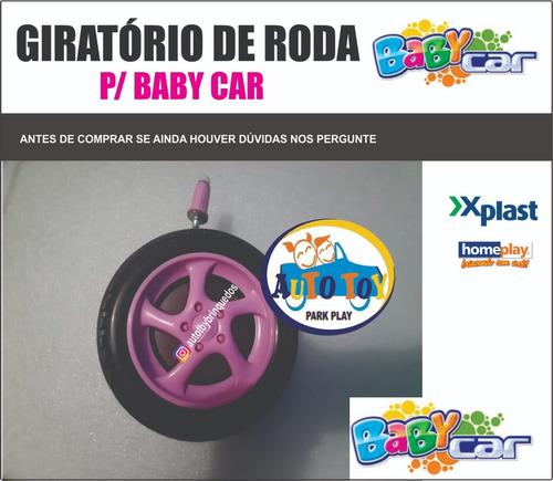 baby car - homeplay - só ´1 giratório de roda dianteiro