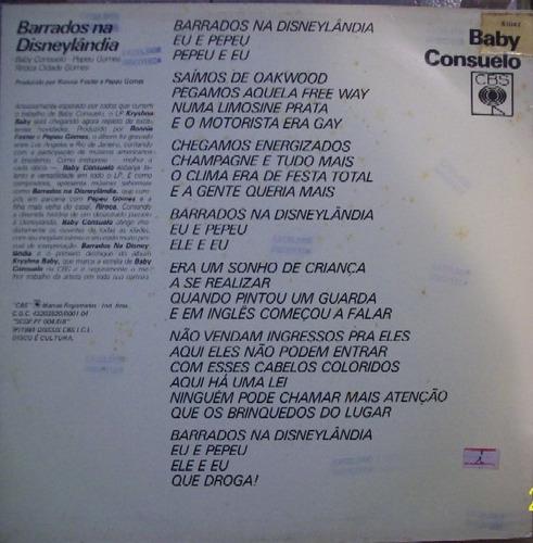 baby consuelo   12 promo single   barrados na disneylandia