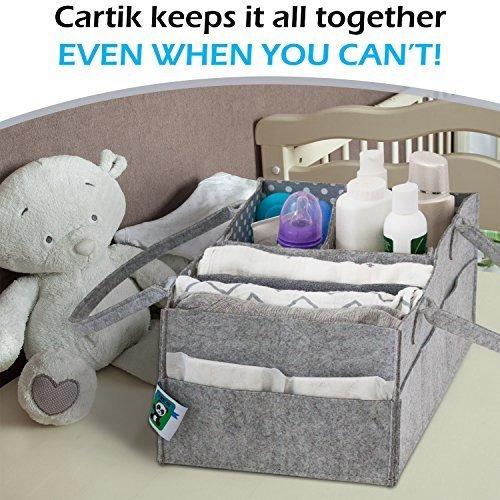 baby diaper caddy organizer set de 2  cesta de bebe con asas