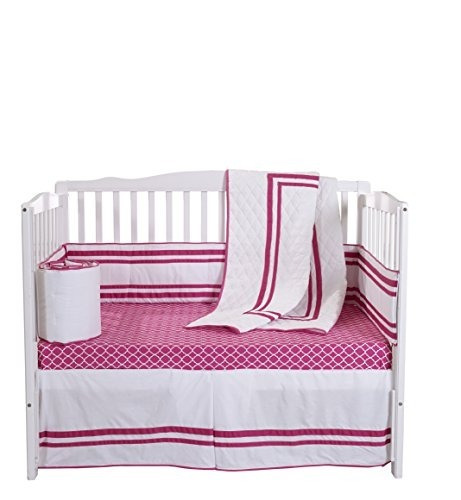 baby doll bedding soho 4 piece cuna juego de cama con sábana