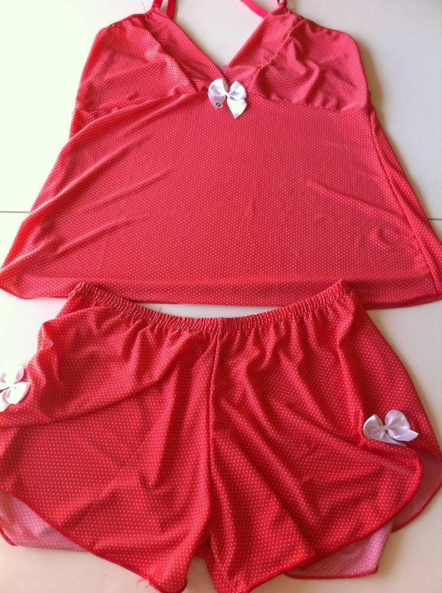 a91e1db41dc9bf Baby Doll E Short Doll Feminino Pijama Vermelho Tamanho G