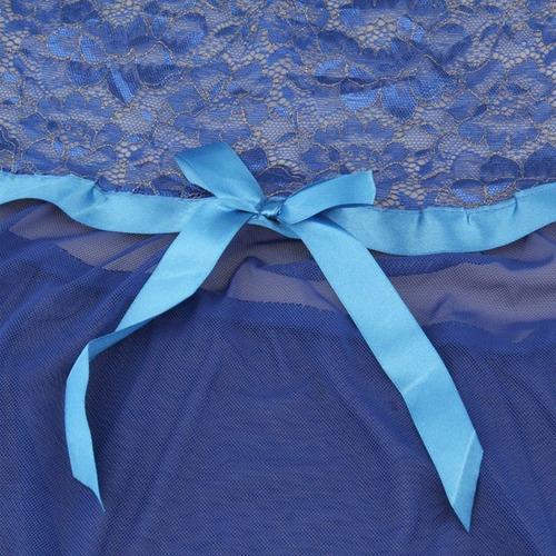 baby doll lencería sexy modelo 6 azul camison y tanga m l xl