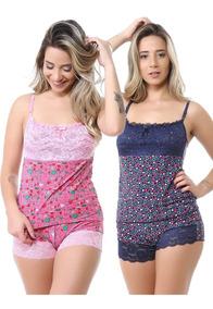 196913852cbb93 Baby Doll Pijama Liganete Renda Kit Com 10 Atacado Fábrica
