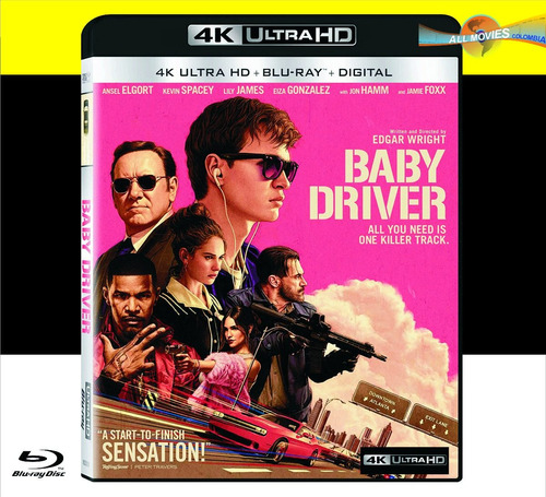 baby driver (4k ultra + blu-ray + hd) original!