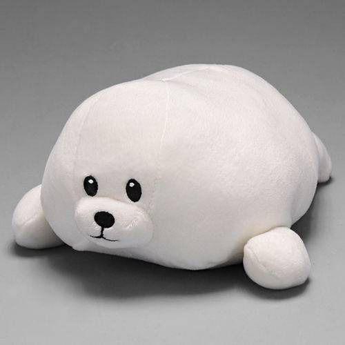 baby foca tiny média branca  27cm ty 4523 dtc