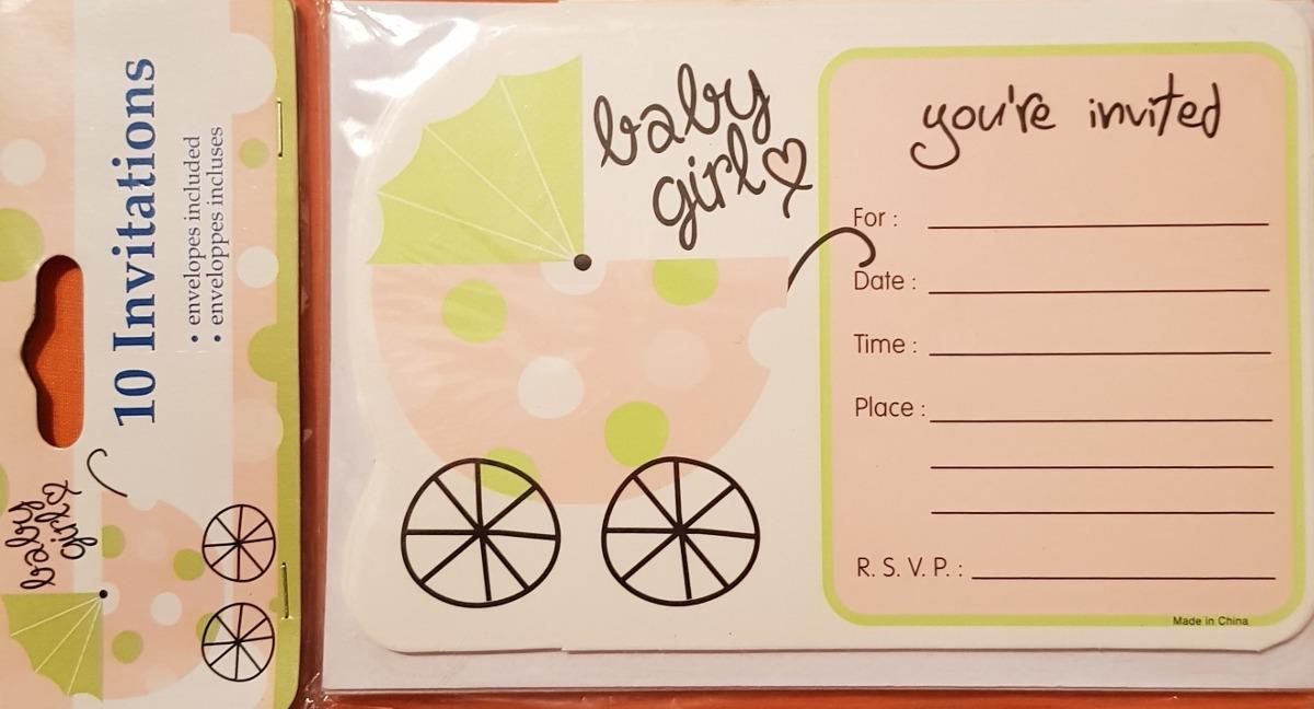 9519c6f063800 baby girl tarjetas de invitación para baby shower de niña. Cargando zoom.
