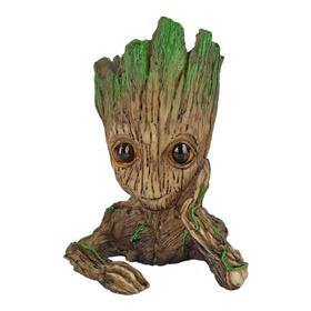 Baby Groot Marvel Boneco Resina Porta Caneta Vaso Planta