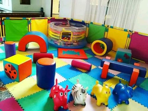 baby gym alquiler, colchones inflab, mesas, piscina de pelot