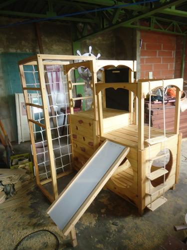 baby gym mini parque bebe gimnasio madera multijuegos