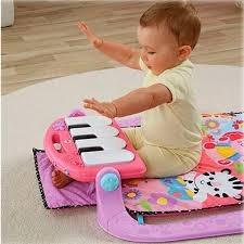 baby gym piano rosado