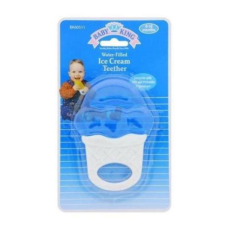 baby king - ice cream teether - mordedor azul com água