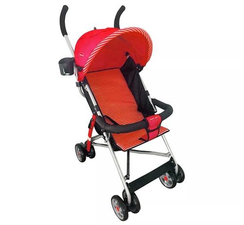 baby kits - coche bastón junior g310 - rojo