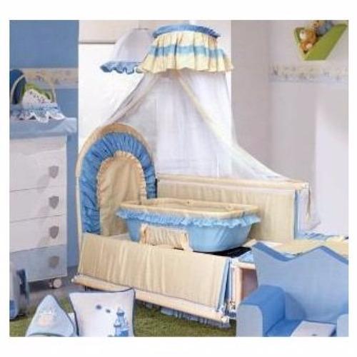baby kits - cuna reyna multifuncional - celeste