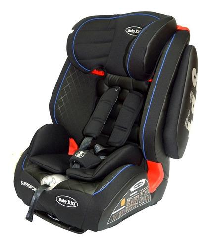 baby kits - silla de auto super sport - negro/azul