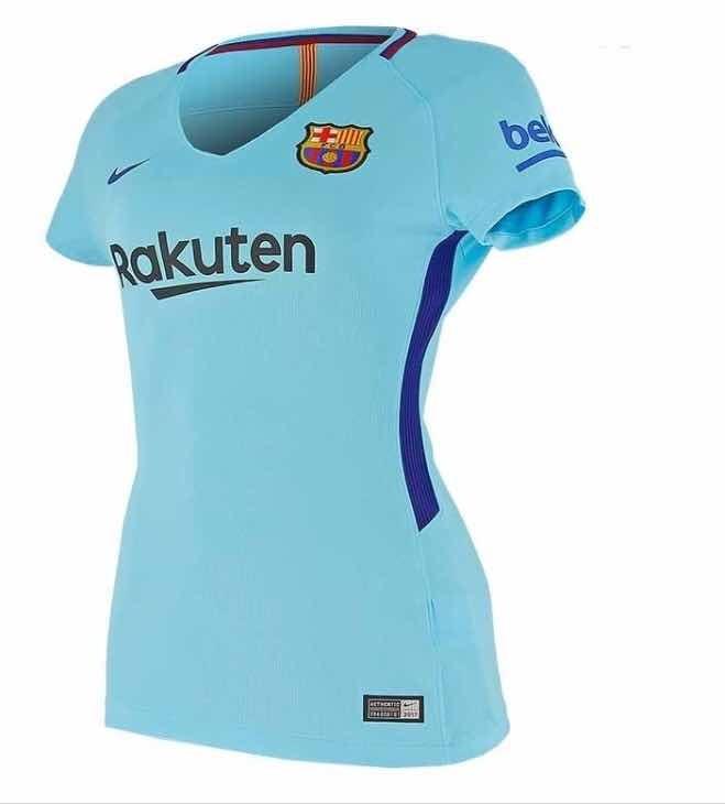 2096d66072 Baby Look Barcelona Azul Aproveite!! (personalizado) - R  75