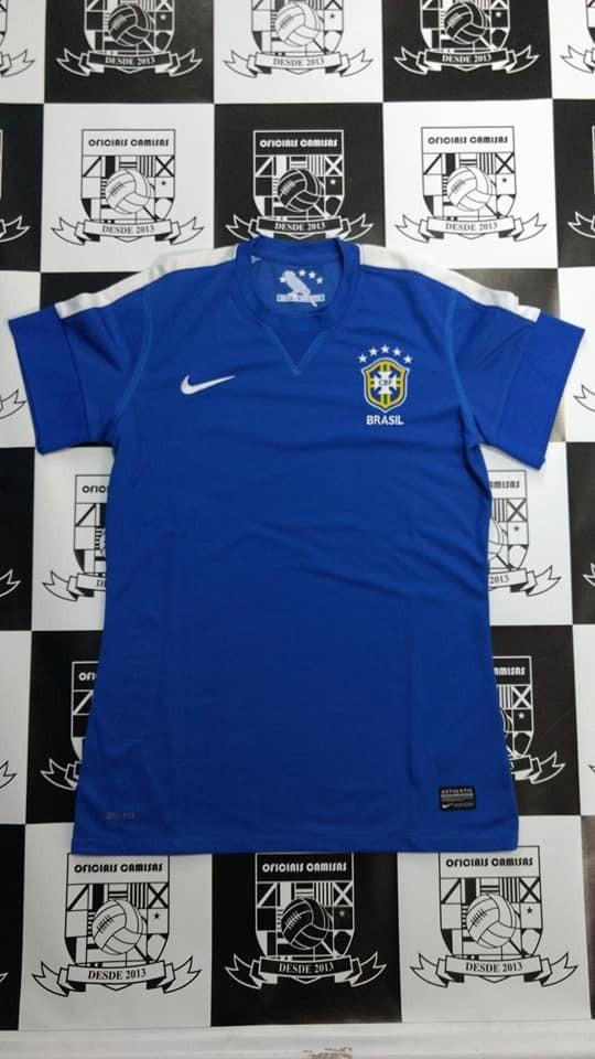 baby look brasil azul original - pronta entrega! Carregando zoom. 5840a53f56297