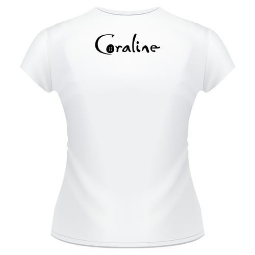baby look coraline e o mundo secreto filme camiseta feminina
