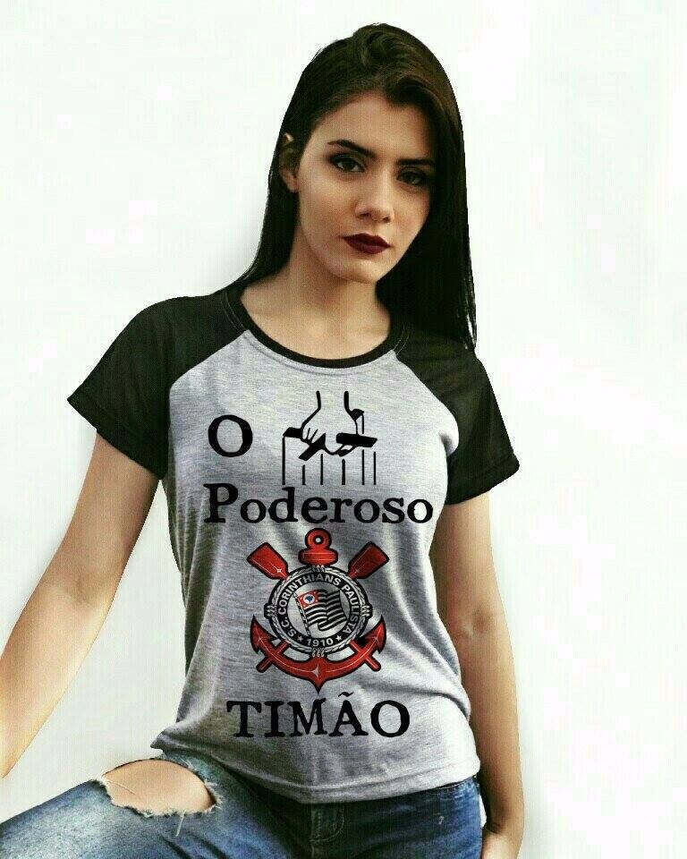 63435dad22b72 Baby Look Corinthians + Bolsonaro - Cropped Timão - Raglan - R  109 ...