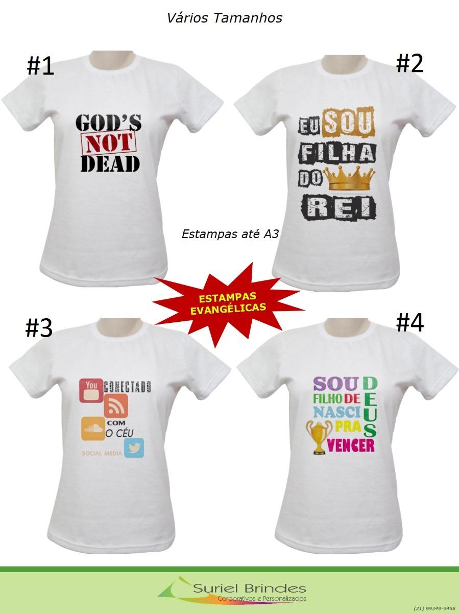 0308103de Baby Look Estampas Evangélicas Kit 4 Unidades - R$ 98,00 em Mercado Livre