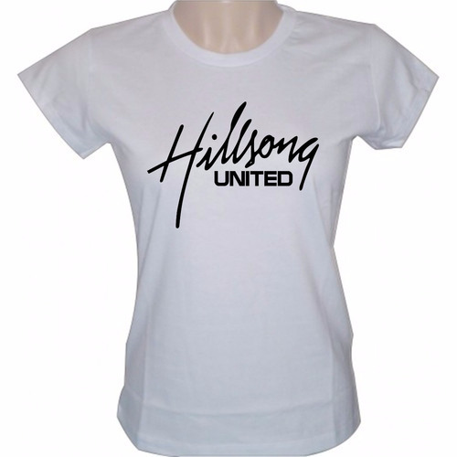 baby look feminina banda hilsong united camisa gospel