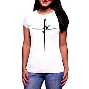 03b4d3f23c Camiseta De Cruz Feminina - Camisetas Manga Curta no Mercado Livre Brasil