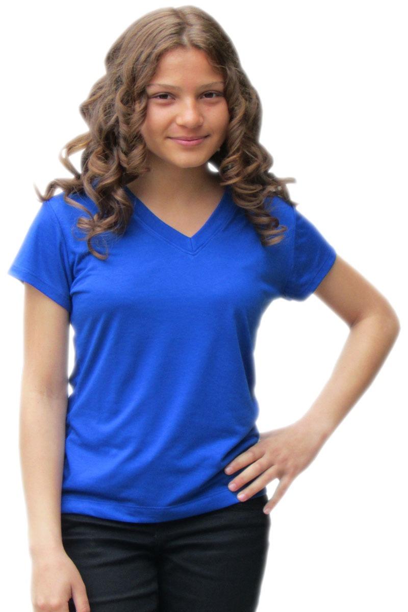 baby look feminina gola v - azul. Carregando zoom. 6e6c4dfb2cafb
