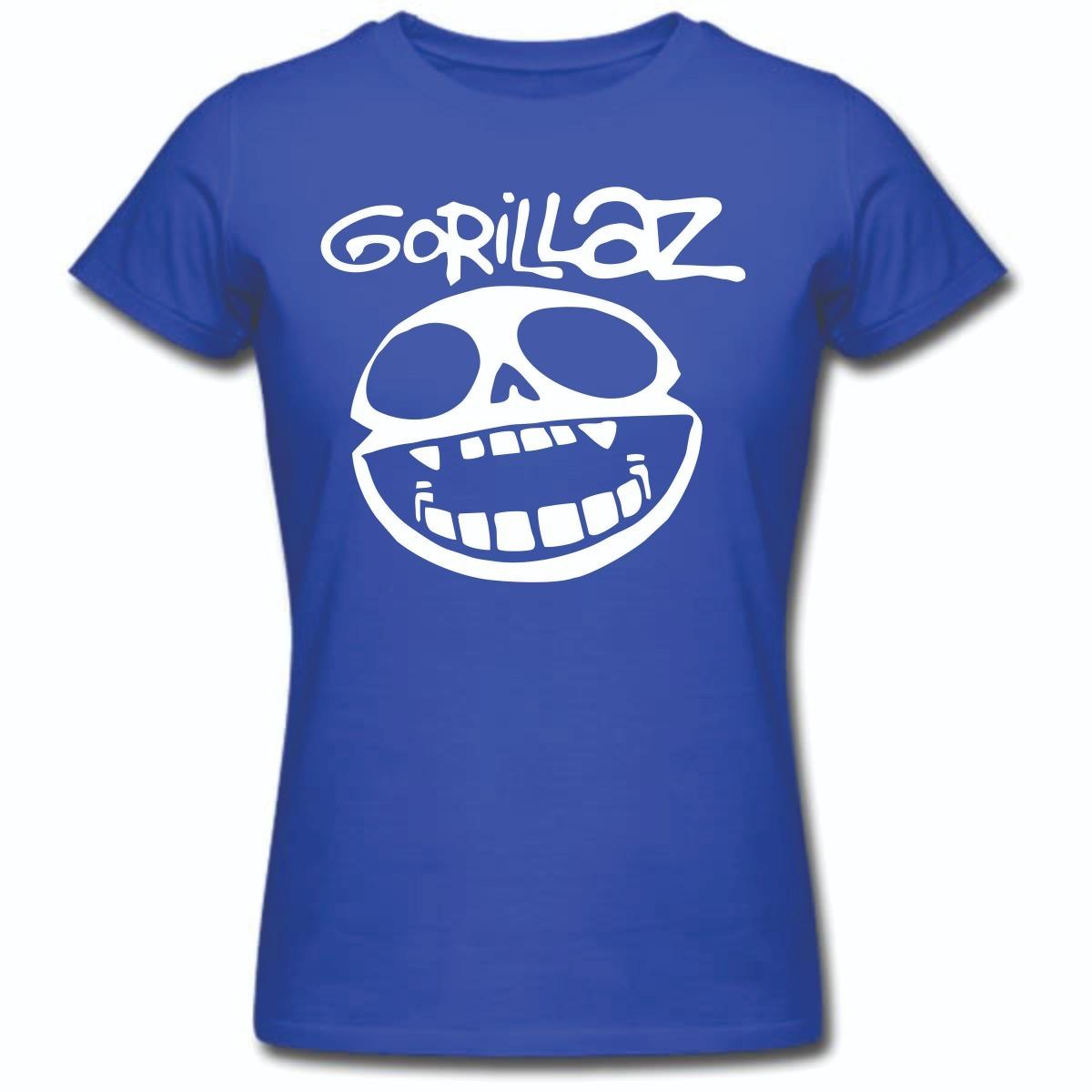 baby look feminina gorillaz banda color camisa virtual rock. Carregando  zoom. 33437fc0d1346