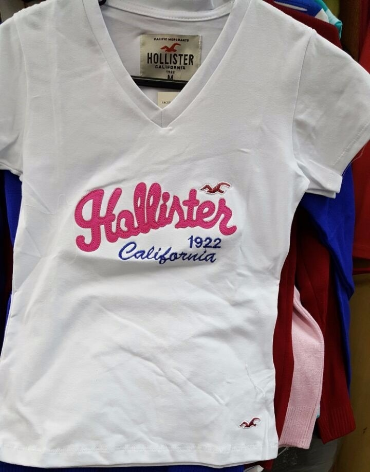 Baby Look Hollister Camiseta Feminina - Kit Com 3 Unidades - R  89,90 em  Mercado Livre e1eb307b39
