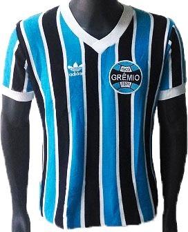 2bf3a507cd Baby Look Retrô Grêmio 1983 Tricolor - R  139