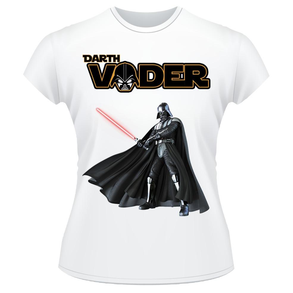 247e85432 Baby Look Star Wars Darth Vader Camiseta Feminina  03 - R  32